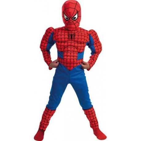 COSTUME LICENCE SPIDERMAN MUSCLE 128/132 CM - 8/10 ANS