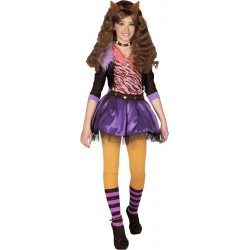 MONSTER HIGH CLAWDEEN WOLF COSTUME LICENCE 10/12 ANS