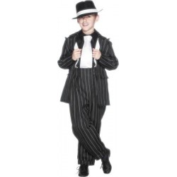 COSTUME GANGSTER TAILLE 130 CM 6/8 ANS