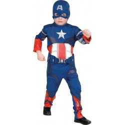 COSTUME LICENCE CAPTAIN AMERICA TAILLE 7/8 ANS