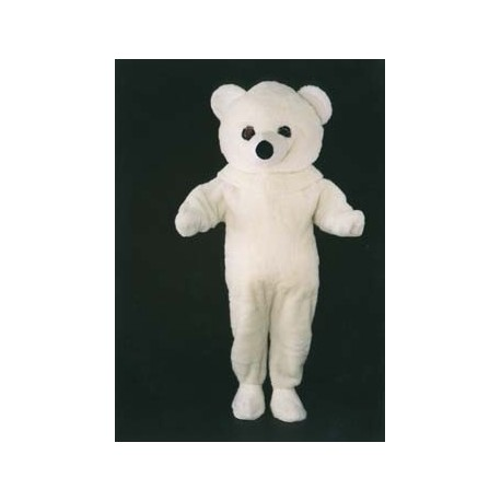 MASCOTTE OURS BLANC