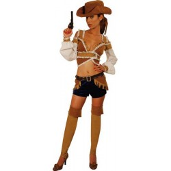 COSTUME SEXY CALAMITY SHORT ASSORTI TAILLE 38/40