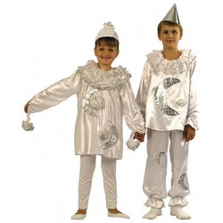 COSTUME ENFANT PIERRETTE 104 CM 3 ANS COULEURS ASSORTIES