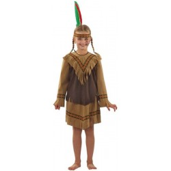 COSTUME ENFANT NAKOTA FILLE 116CM 4/5ANS COULEURS ASSORTIES