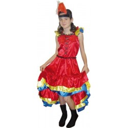 COSTUME ENFANT CAN CAN TAILLE 140 CM 8/10 ANS