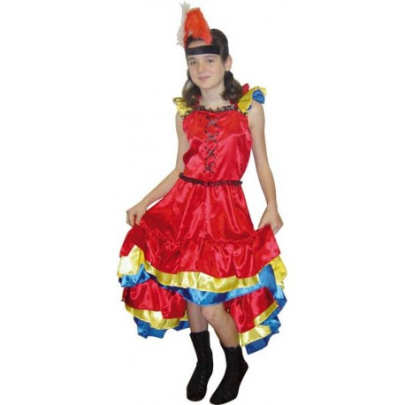 COSTUME CAN CAN ENFANT