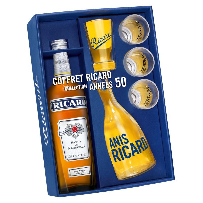 RICARD Coffret 0.7 LITRE 45° années 50