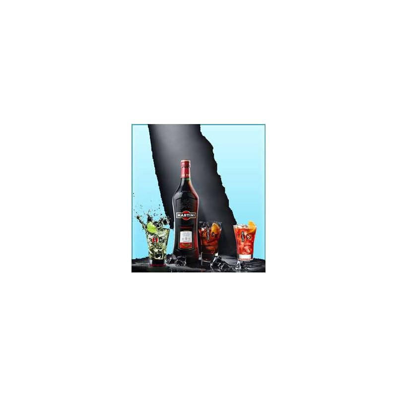 MARTINI Rosso Rouge 1 Litre + 3 verres