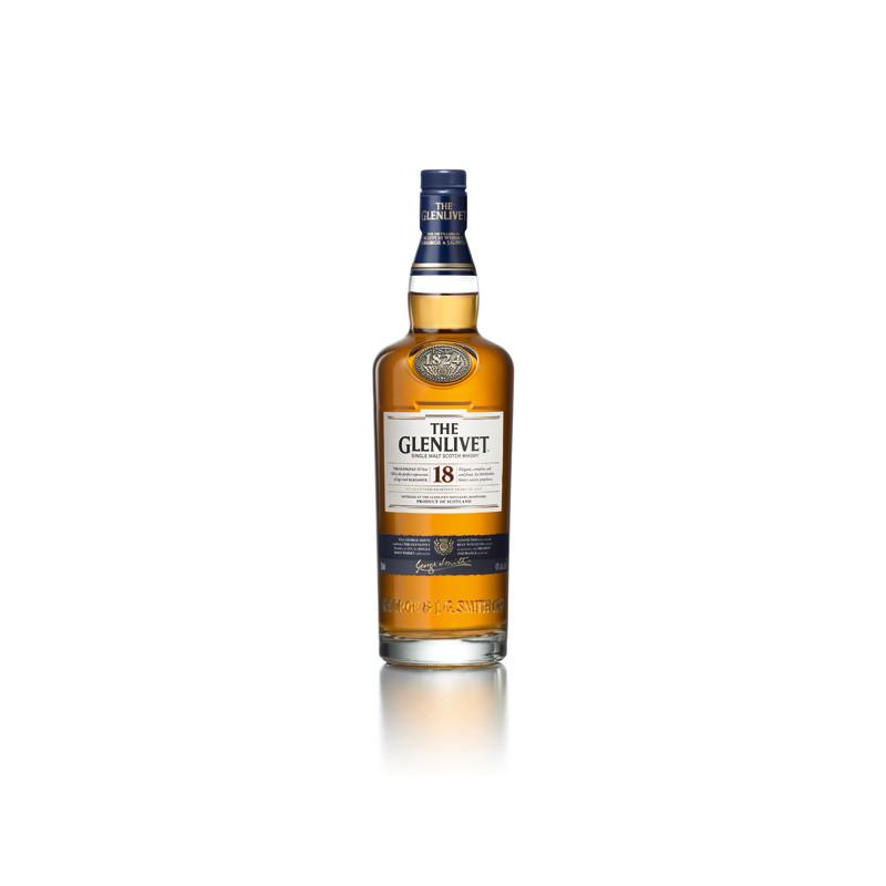THE GLENLIVET whisky 18ans 70cl 43°