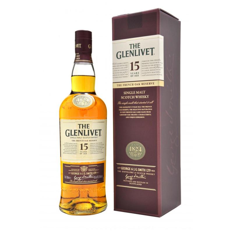 THE GLENLIVET whisky 15ans 70cl 40°