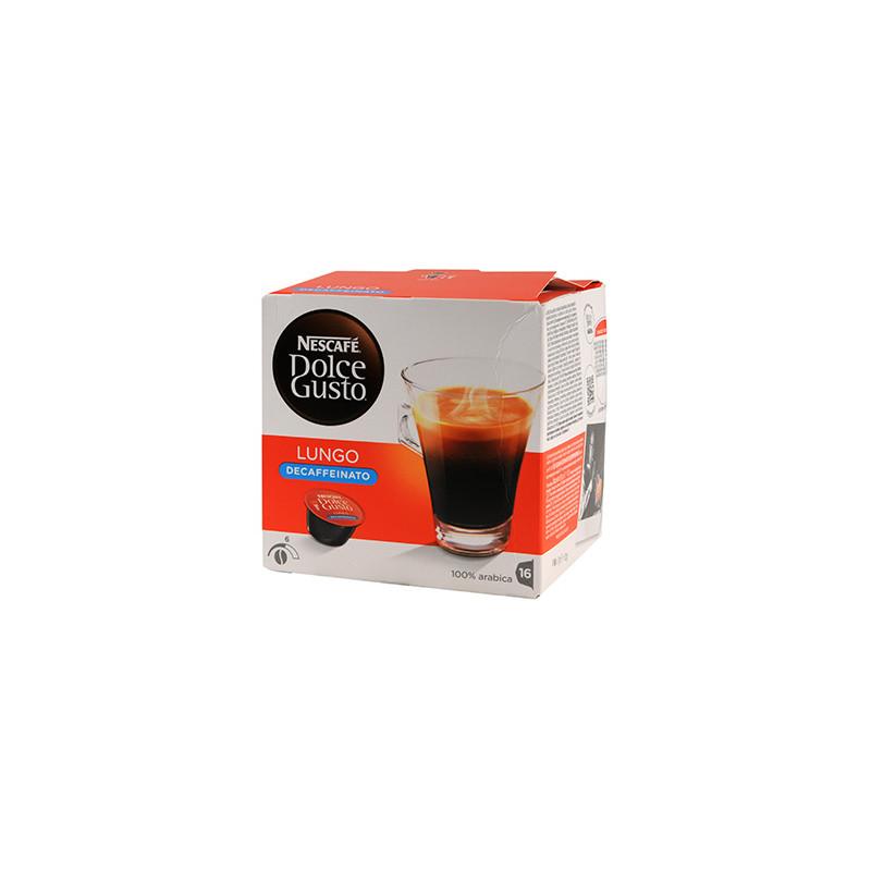 CAFE DOLCE GUSTO NESCAFE LUNGO DECAFEINE BOITE 16 CAPSULES - 112gr