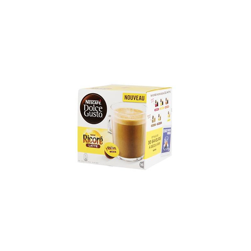 CAFE DOLCE GUSTO NESCAFE RICORE LATTE BOITE 16 CAPSULES - 128gr