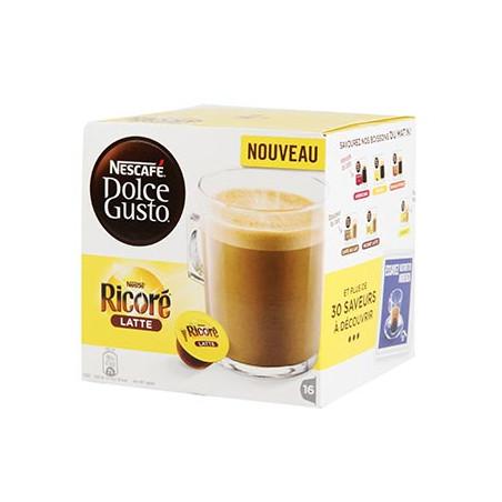 CAFE DOLCE GUSTO NESCAFE RICORE LATTE BOITE 16 CAPSULES - 168gr