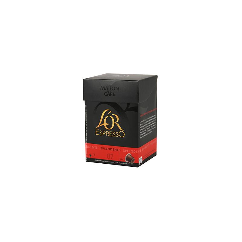 Café L'Or Espresso n°7 Splendente 10 capsules de 52gr
