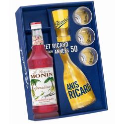 COFFRET RICARD TOMATE 0.7 LITRE 45° années 50