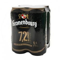 KRONENBOURG BLONDE INTENSE PACK DE 4 BOITES METAL 50 cl 7°