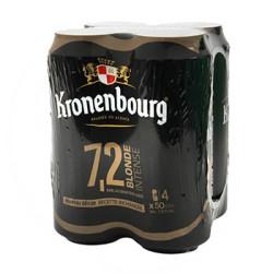 Bière blonde Kronenbourg pack de 4 boites métal 50cl 7°