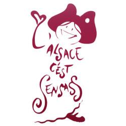AUTOCOLLANT L'ALSACE C'EST SENSASS ROUGE