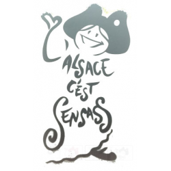 AUTOCOLLANT L'ALSACE C'EST SENSASS ARGENT