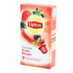 LIPTON THE NOIR FRUITS ROUGES 15 CAPSULES, 25 GRAMMES