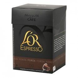 CAFE L'OR EXPRESSO FORZA N°9 10 CAPSULES 52 grammes