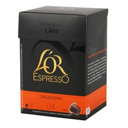 CAFE L'OR EXPRESSO DELIZIOSO N°4 10 CAPSULES 52 grammes
