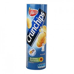 TUBE VICO CRUNCHIPS NATURE 135 Grammes