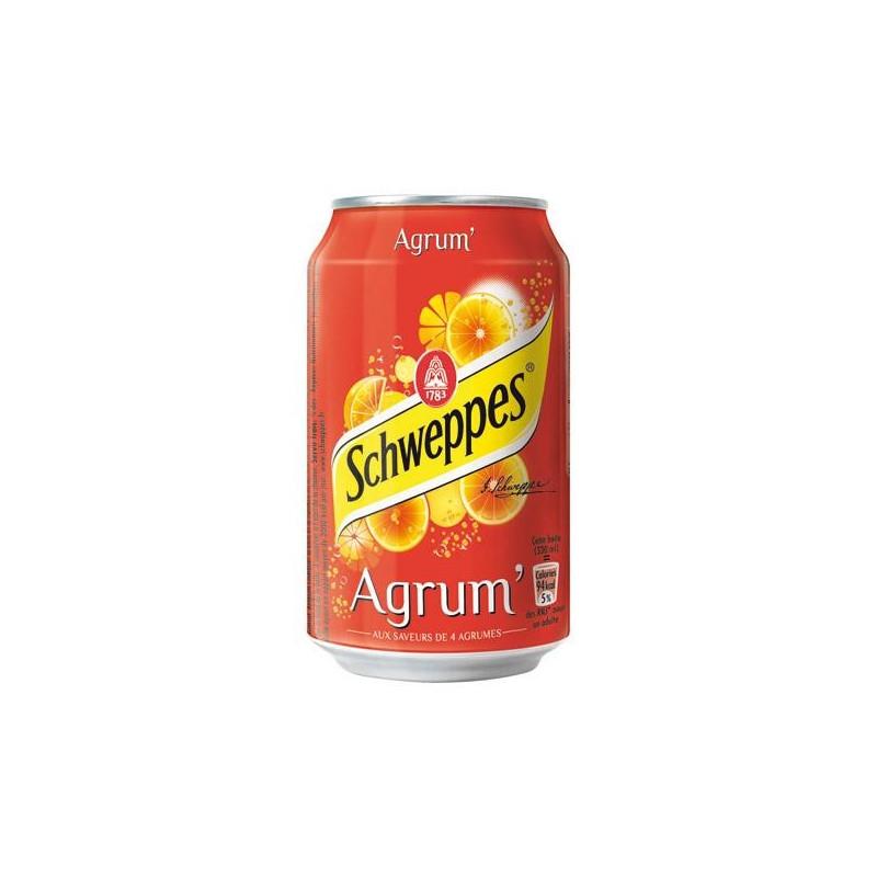 SCHWEPPES agrum boite métal 33cl