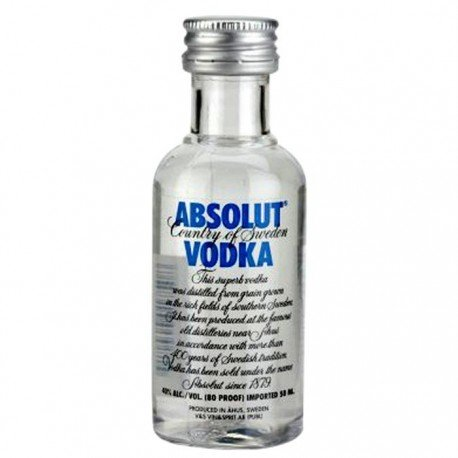 VODKA ABSOLUT 0,05 LITRE 40° MIGNONNETTE