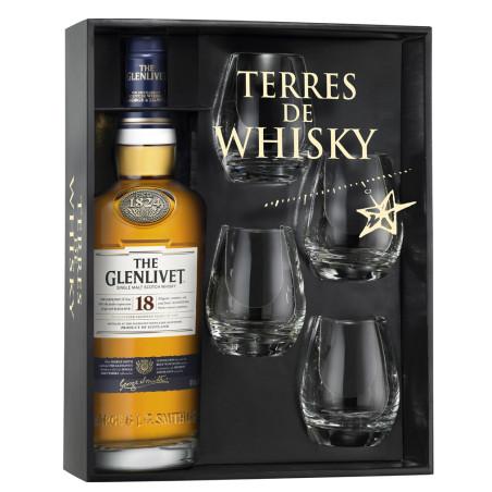 GLENLIVET whisky 18ans 70cl coffret