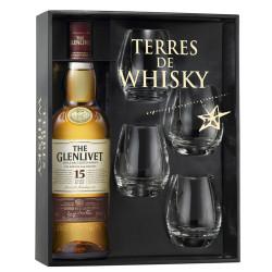 GLENLIVET whisky 15ans 70cl coffret