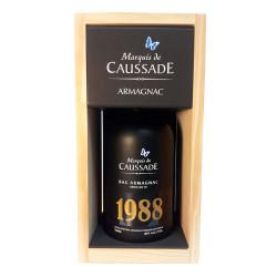 ARMAGNAC CAUSSADE 1988 BOUTEILLE 0,7 LITRE 40°