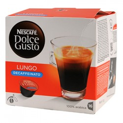 CAFE DOLCE GUSTO NESCAFE LUNGO DECAFEINE BOITE 16 CAPSULES - 112gr