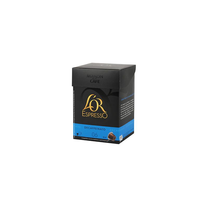 Café L'Or Espresso n°6 Décaféiné 10 Capsules 50gr