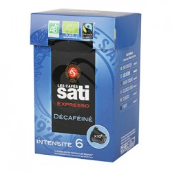 CAFE SATI EXPRESSO DECAFEINE N°6 10 CAPSULES 55 Grammes