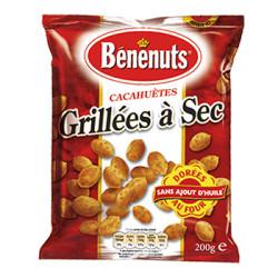 CACAHUETES GRILLEES A SEC BENENUTS 200 Grammes
