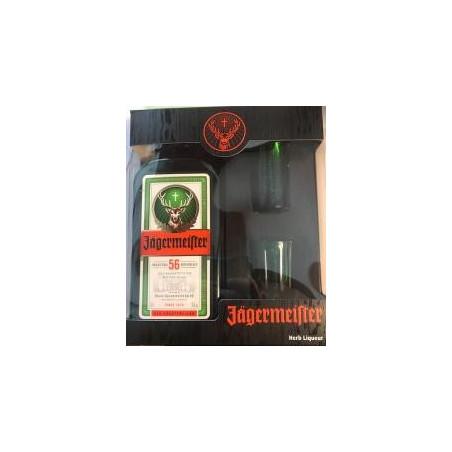 COFFRET JAGERMEISTER AVEC 2 SHOOTERS VERT